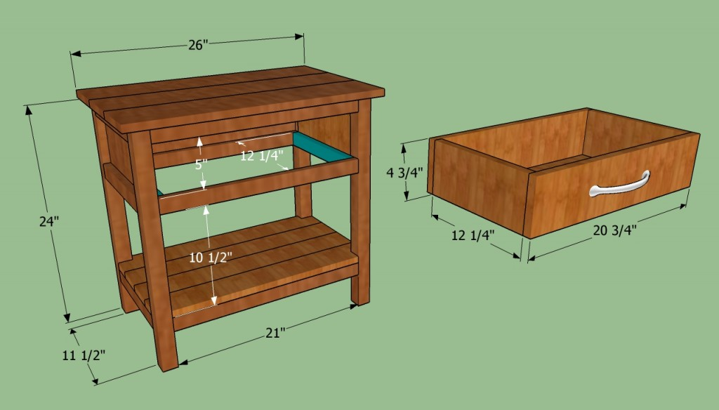 Make a wooden bedside table