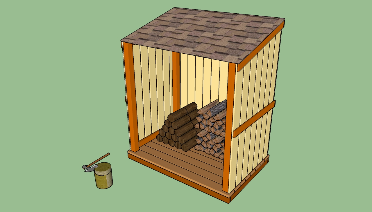 ... shed designs How to build a wood shed Firewood storage shed plans
