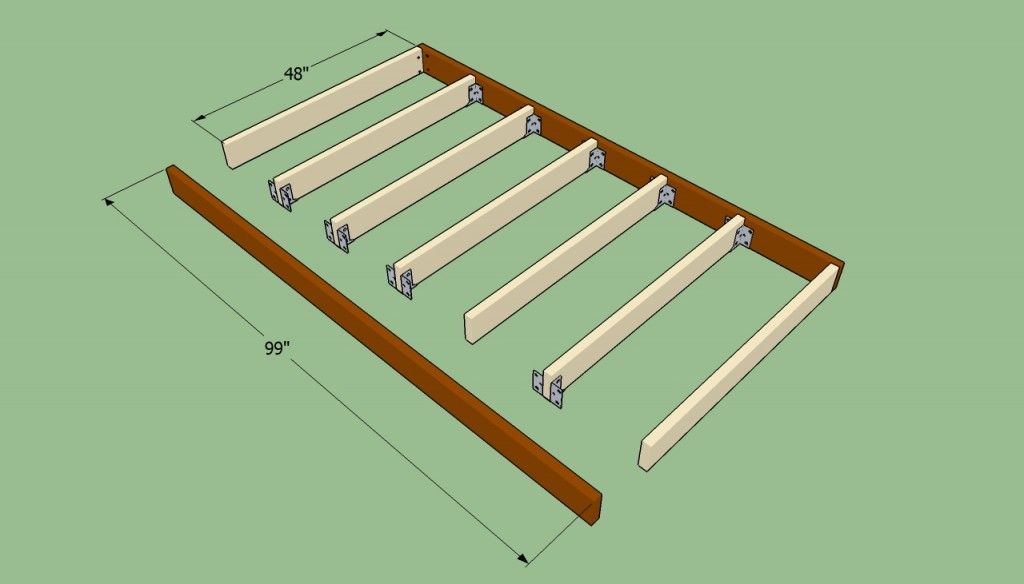 How to build the floor of the shed