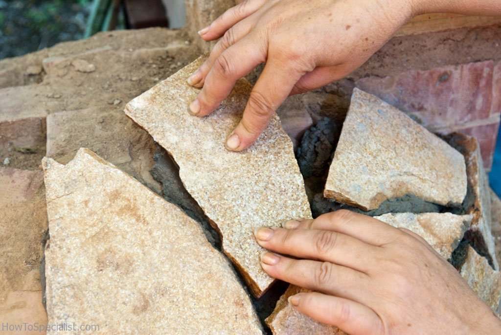 Attaching the stone