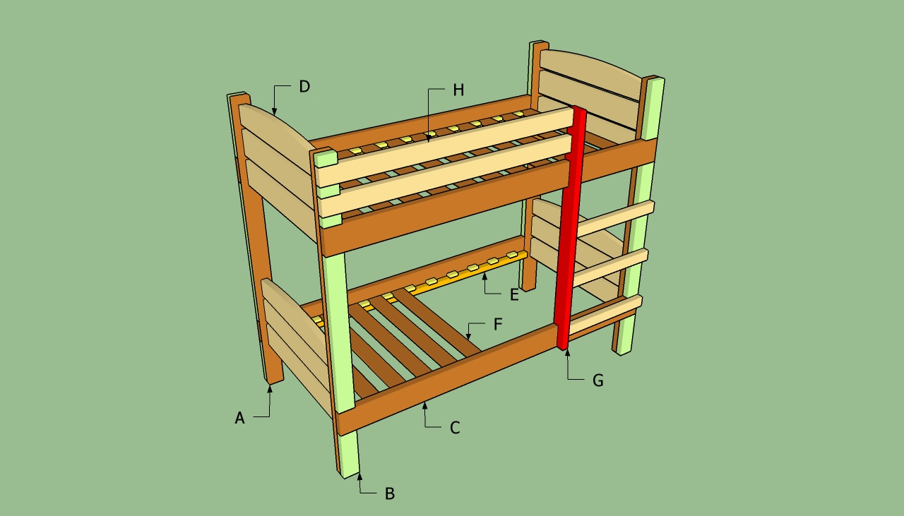 plans to build a bunk bed ladderfreewoodplans