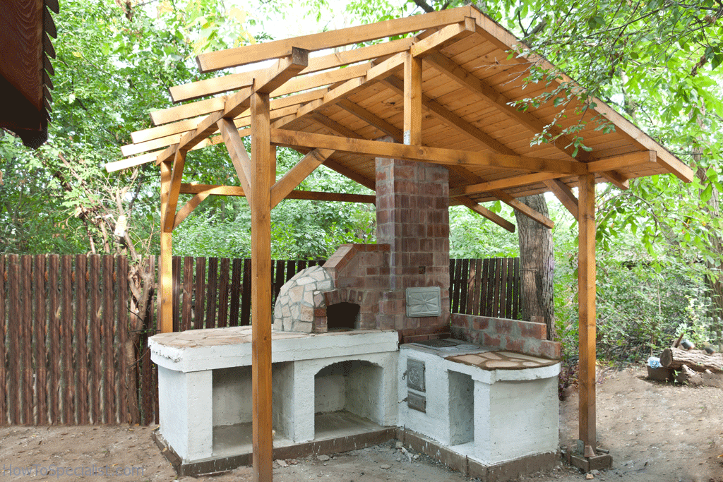 Outdoor Patio Shelter Plans : How to build a pizza oven shelter howtospecialist