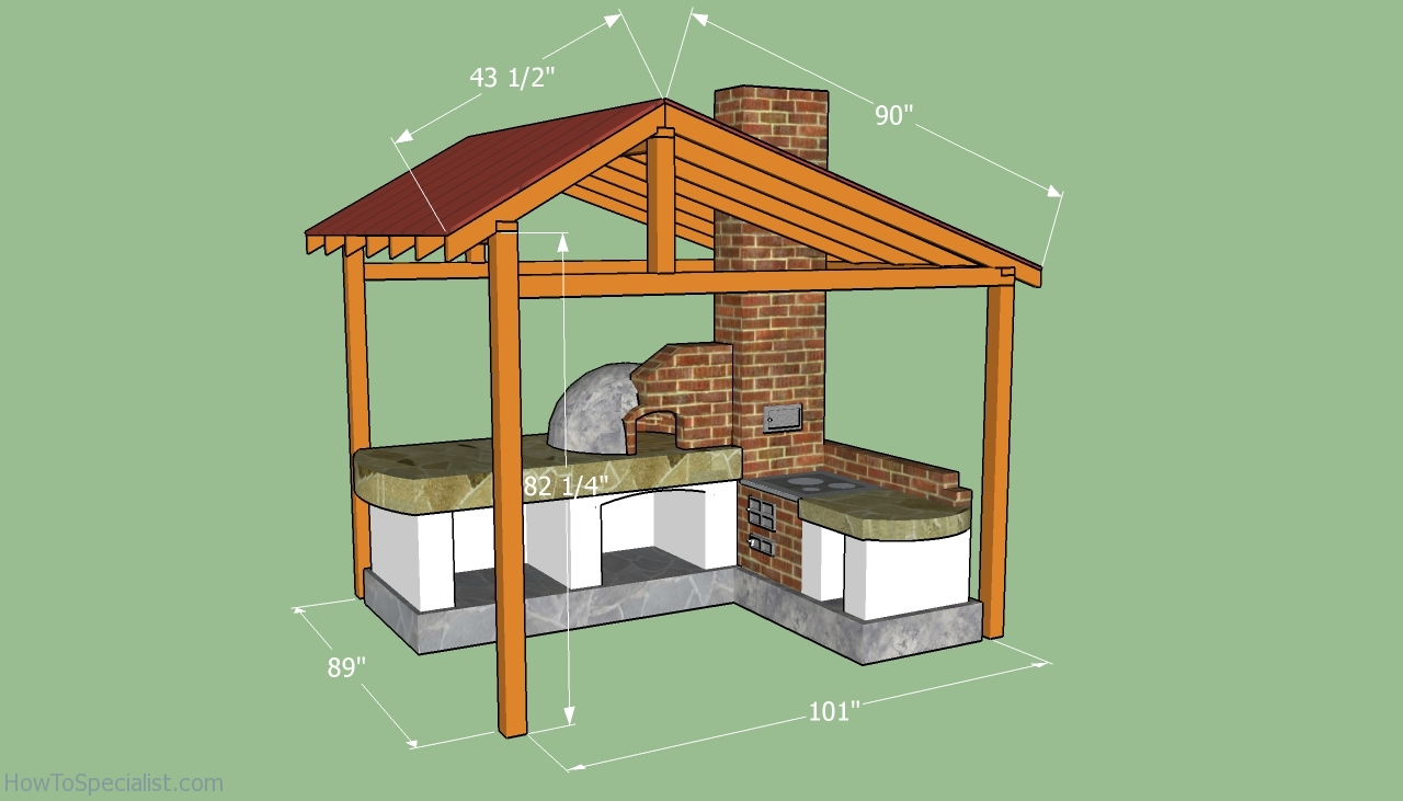 How to build a pizza oven shelter howtospecialist how Shelter house plans