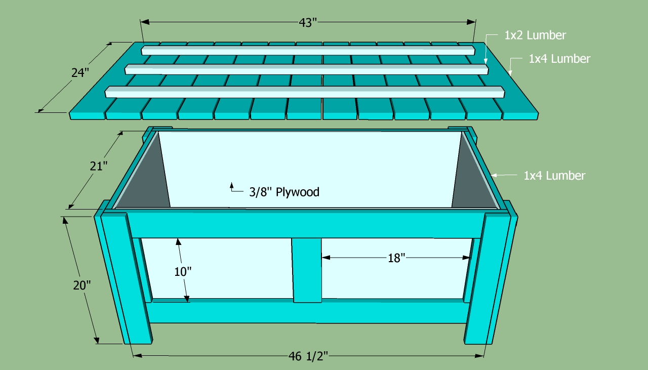 plans building storage bench
