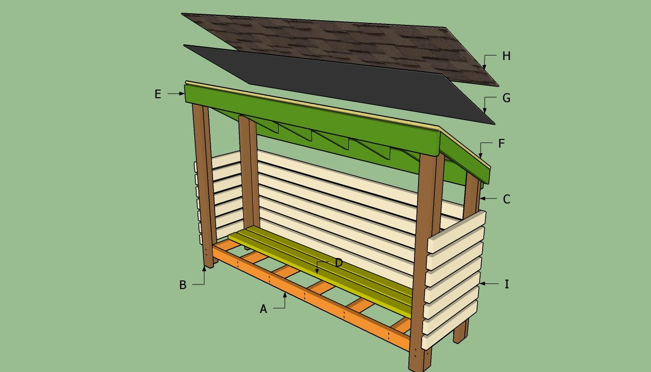 DIY Wood Design: Plans to build a wood shed