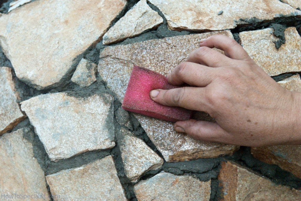 Cleaning the stone