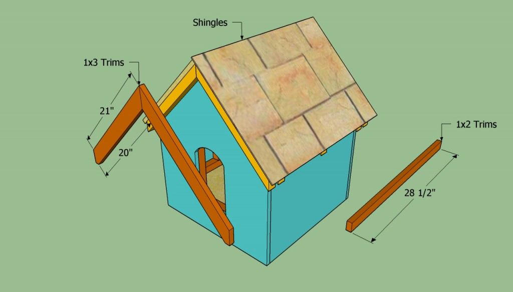 Fitting the shingles and trims