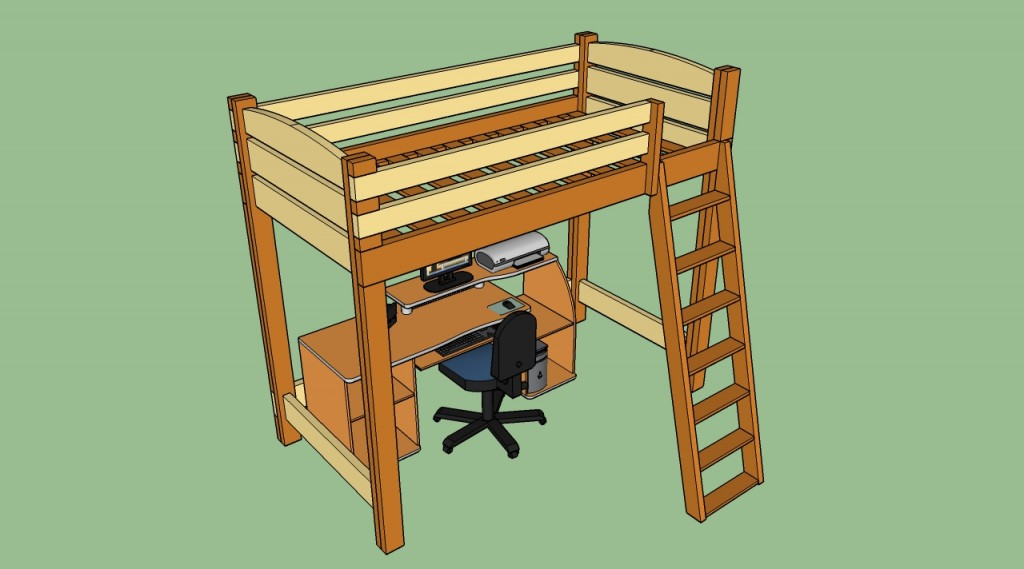 How to build a loft bed with ladder
