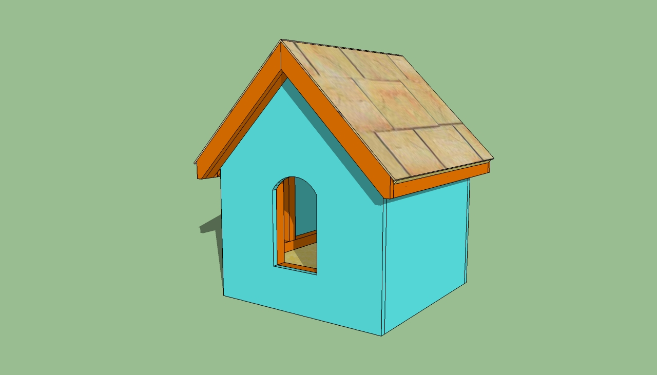 How to build a small dog house for How to frame a house step by step