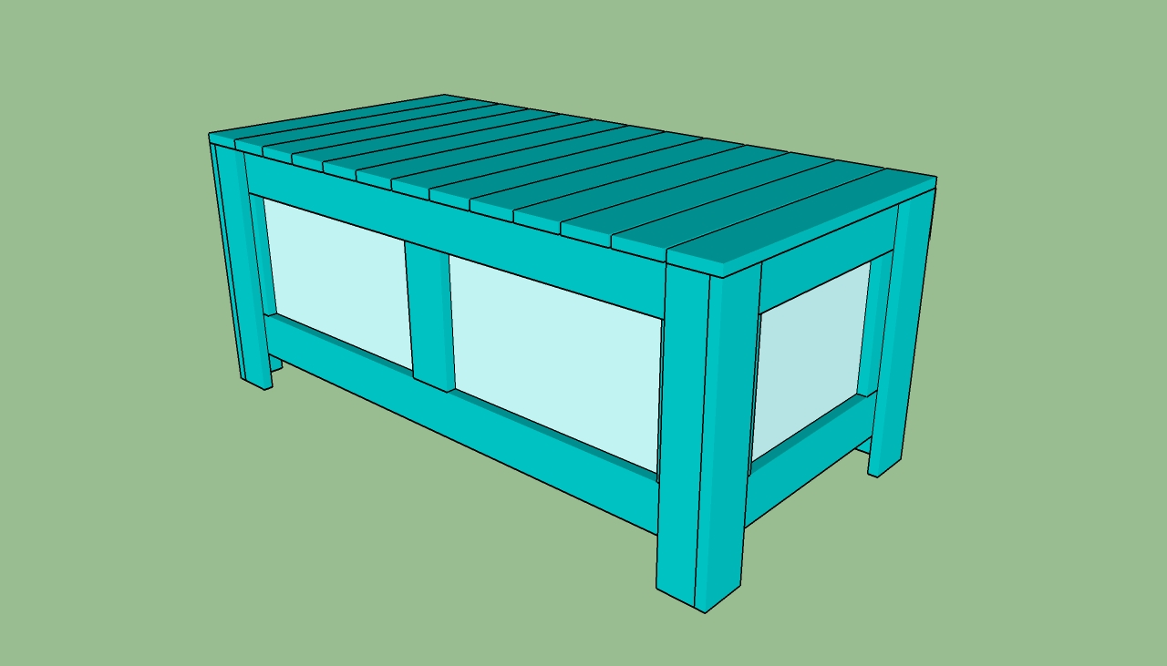 ... storage bench | HowToSpecialist - How to Build, Step by Step DIY Plans