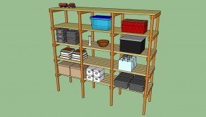 How to build storage shelves