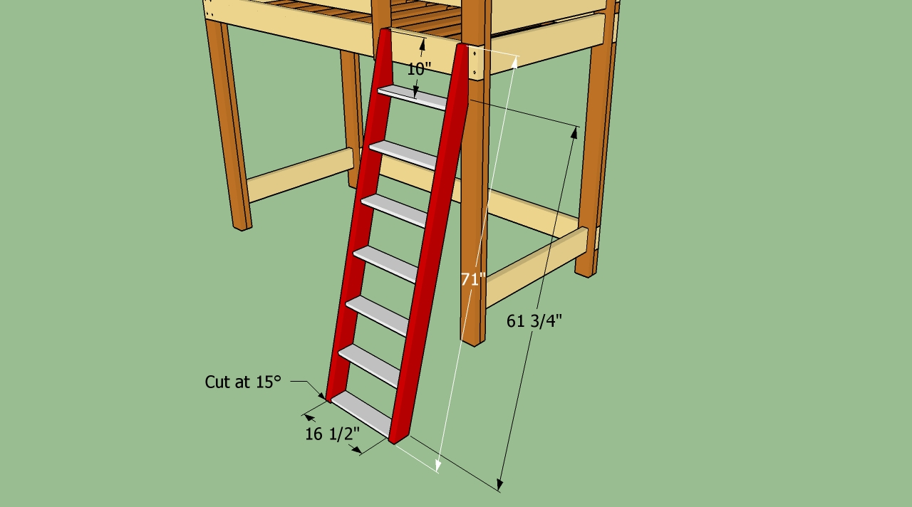 Plans To Build Bunk Beds With Stairs - House Design And Decorating ...