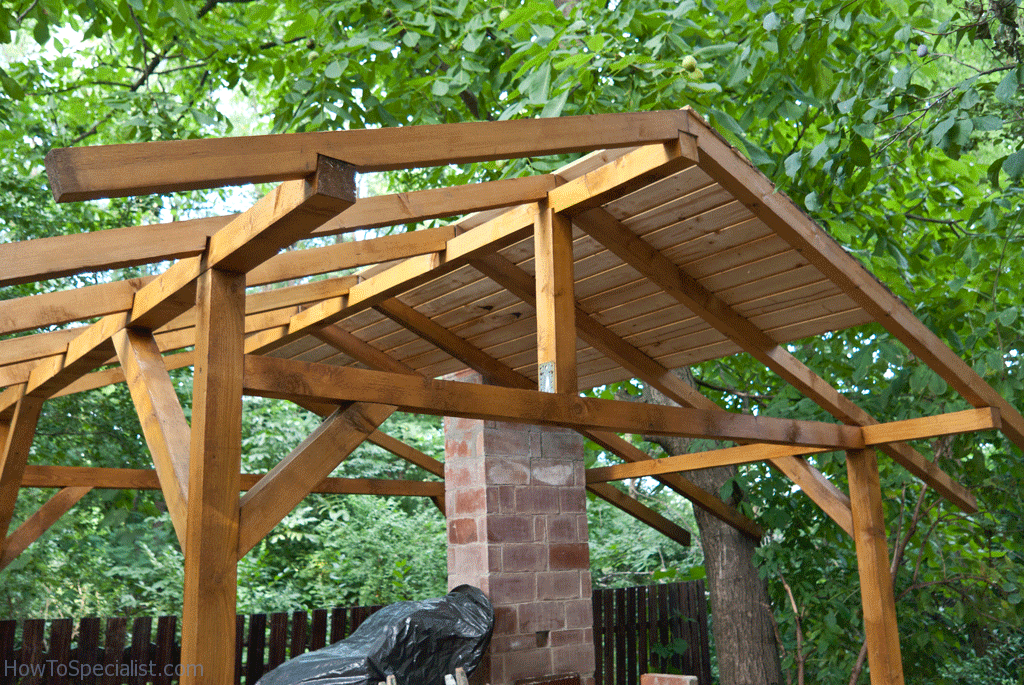 Wood Shelter Plans : How to build a pizza oven shelter howtospecialist