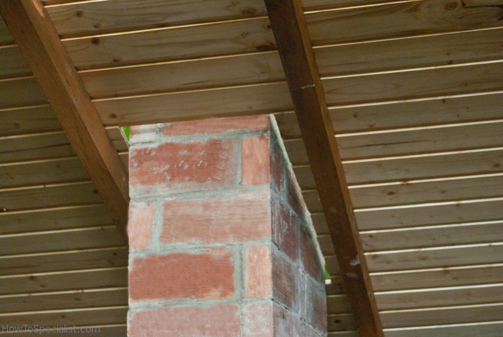 Roof around chimney