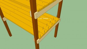 Securing the slats with screws