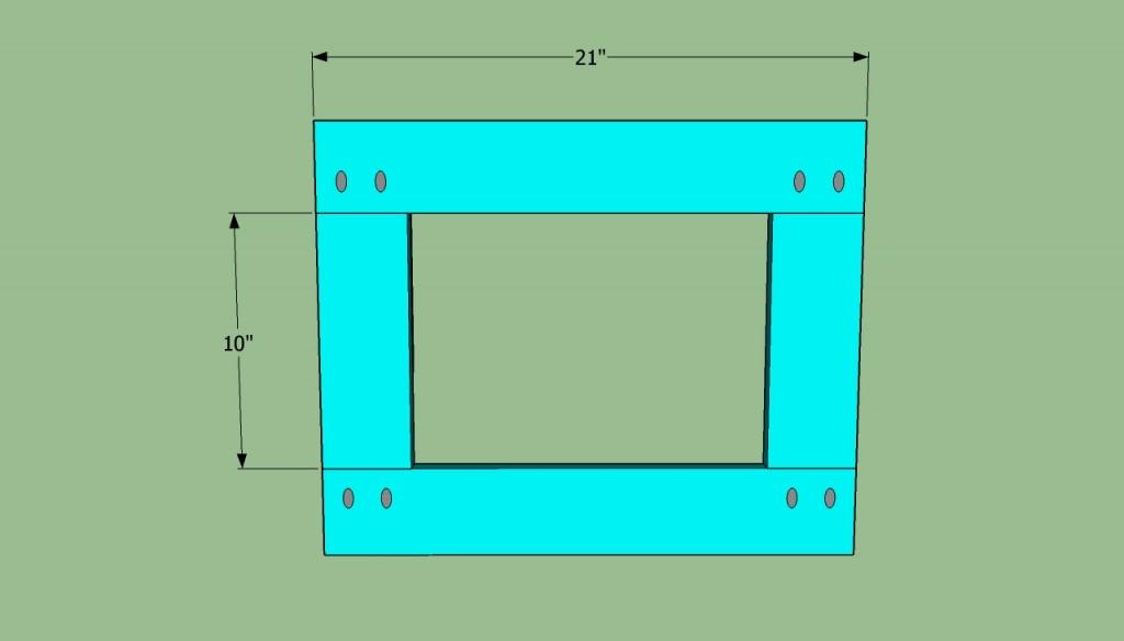 Side bench frame plans