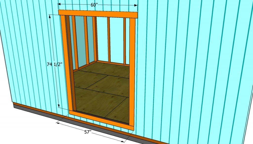 how to build double shed doors howtospecialist how to build step