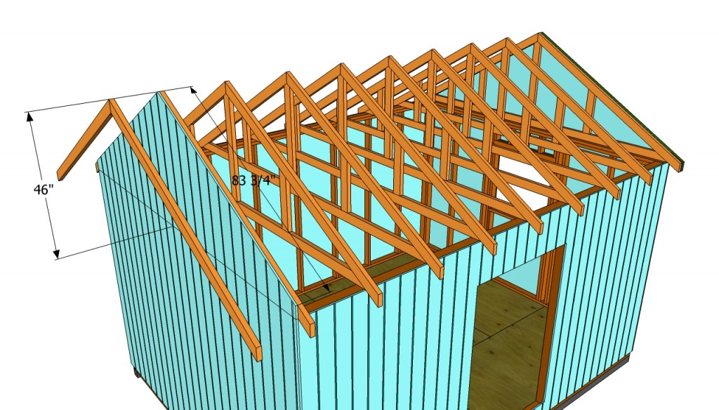 How to build a roof for a 12x16 shed   HowToSpecialist ...