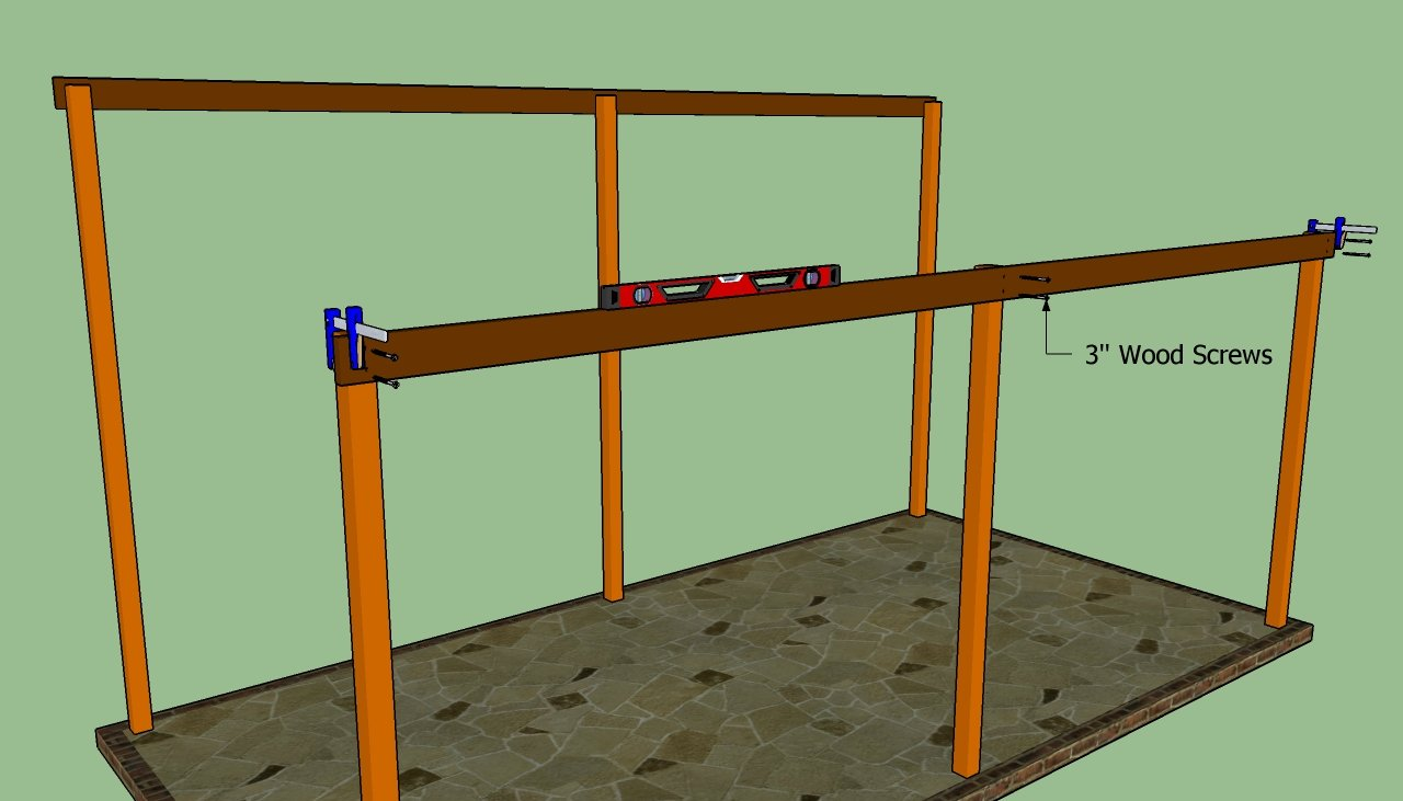Wood attached lean to carport plans pdf plans for Lean to plans free