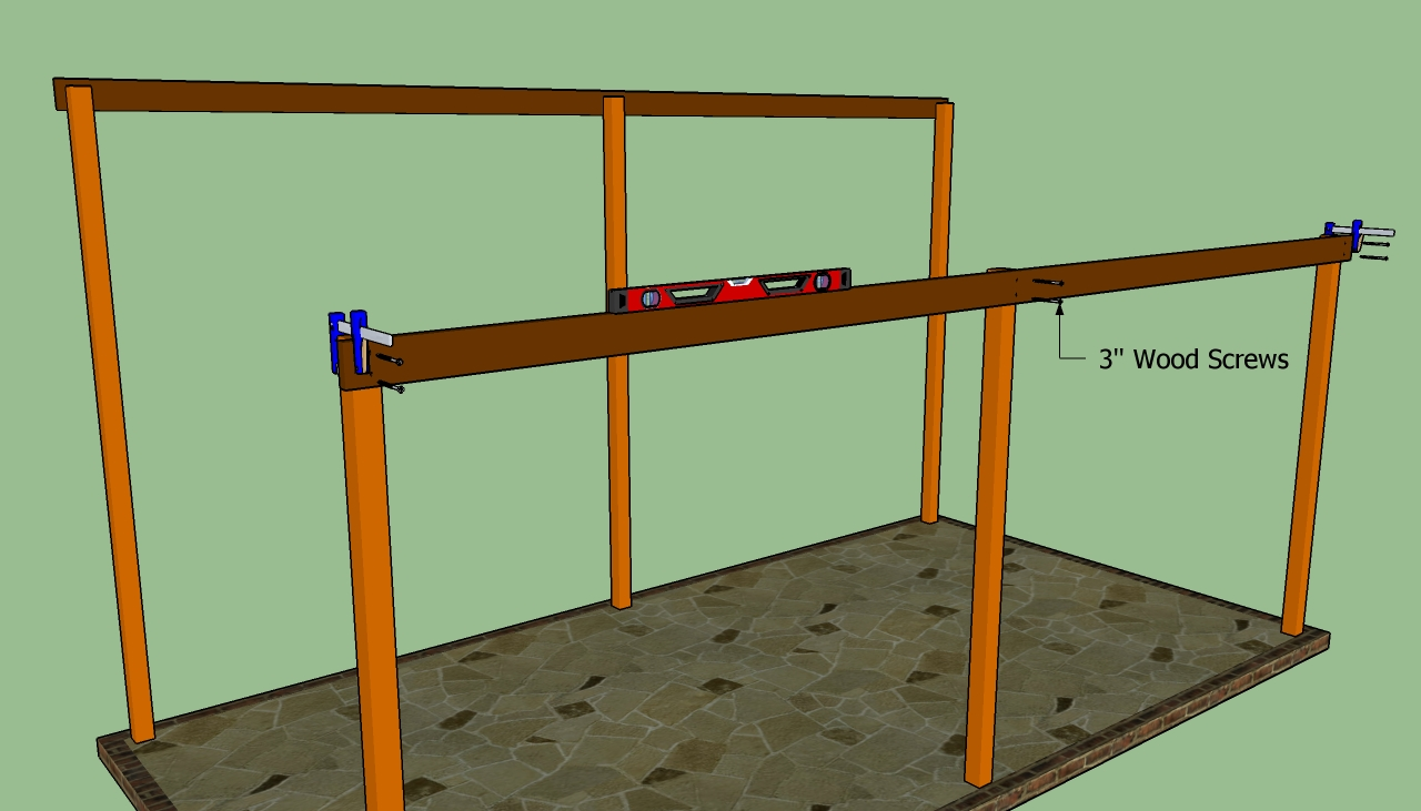 Wood attached lean to carport plans pdf plans for Attached carport plans free