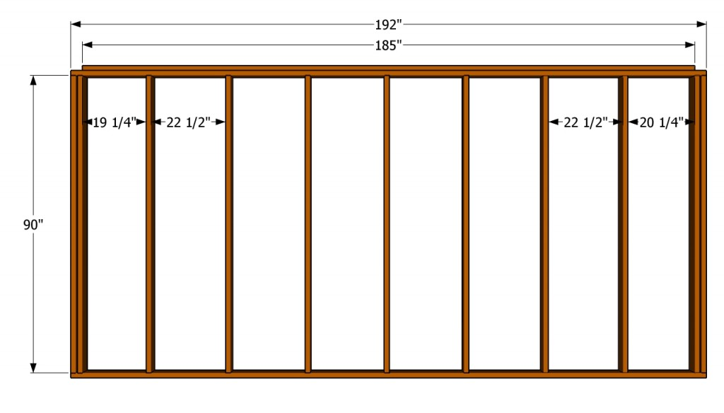 Back wall plans