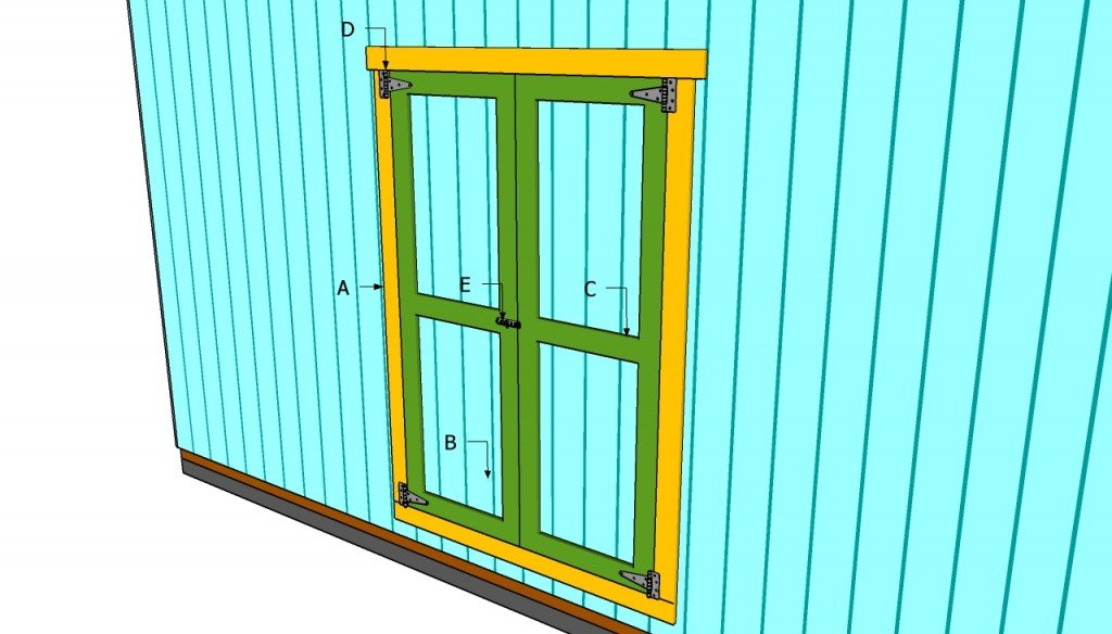 How to build double shed doors howtospecialist how to for Double door shed plans