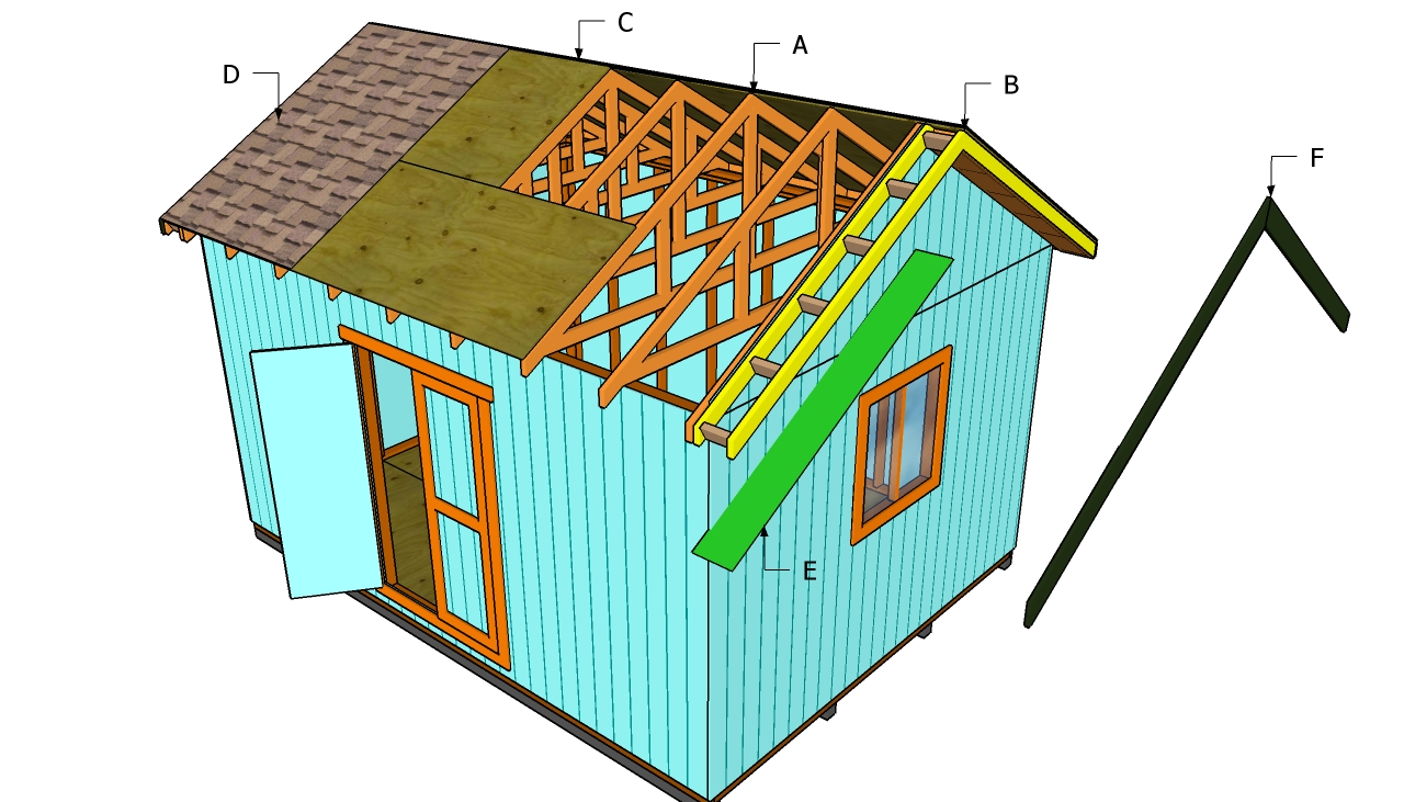 How to build a roof for a 12x16 shed howtospecialist for House roof construction