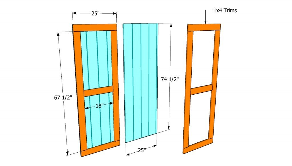 How to build double shed doors howtospecialist how to for Exterior shed doors design