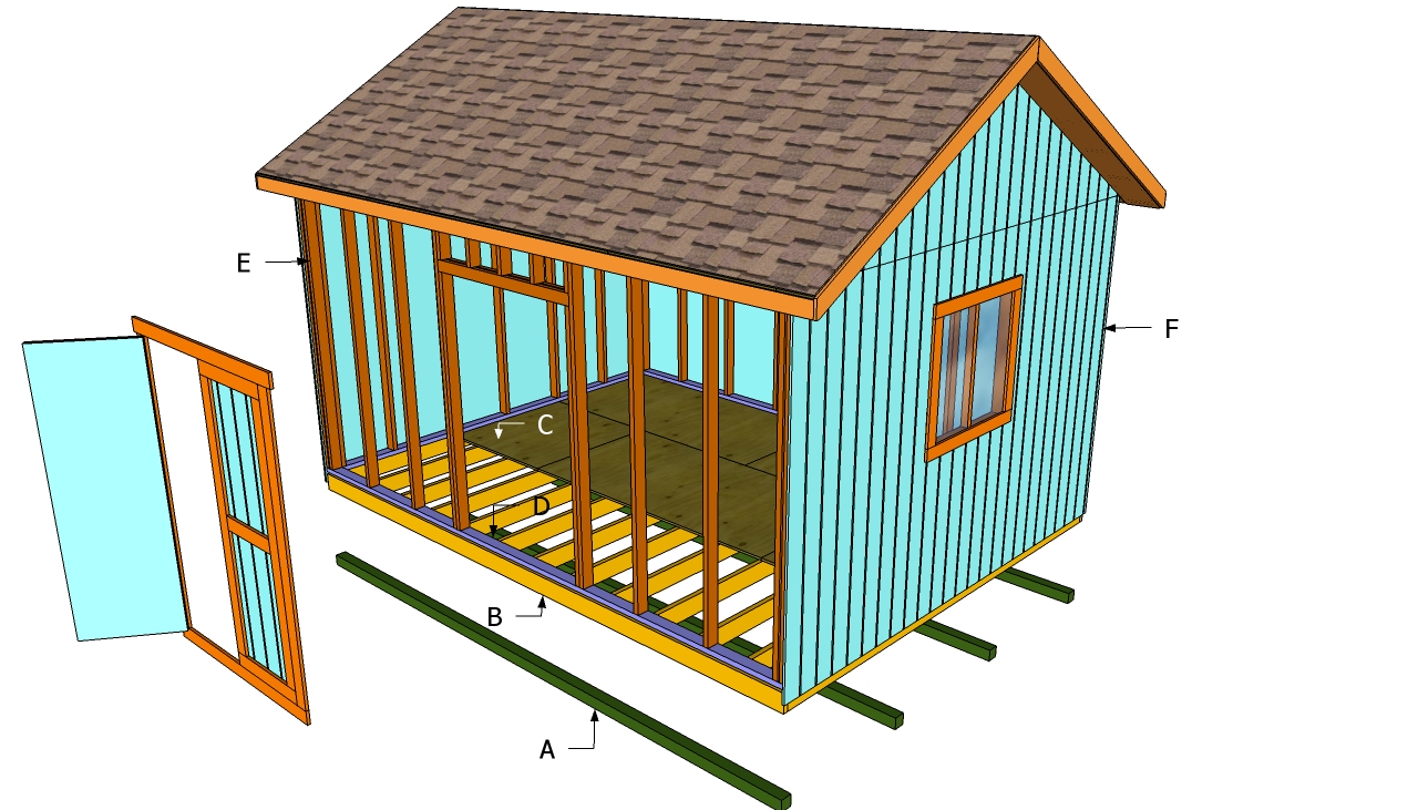 Dahkero 10x12 Storage Shed Plans How To Make