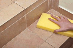 Cleaning the tiles