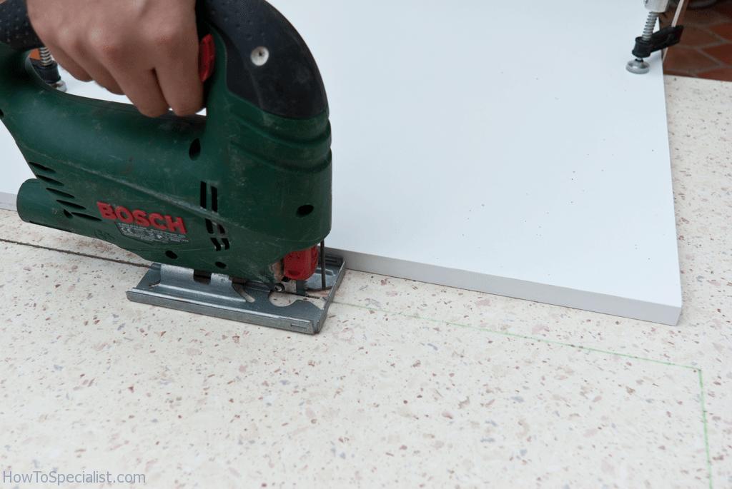 How to cut laminate countertop