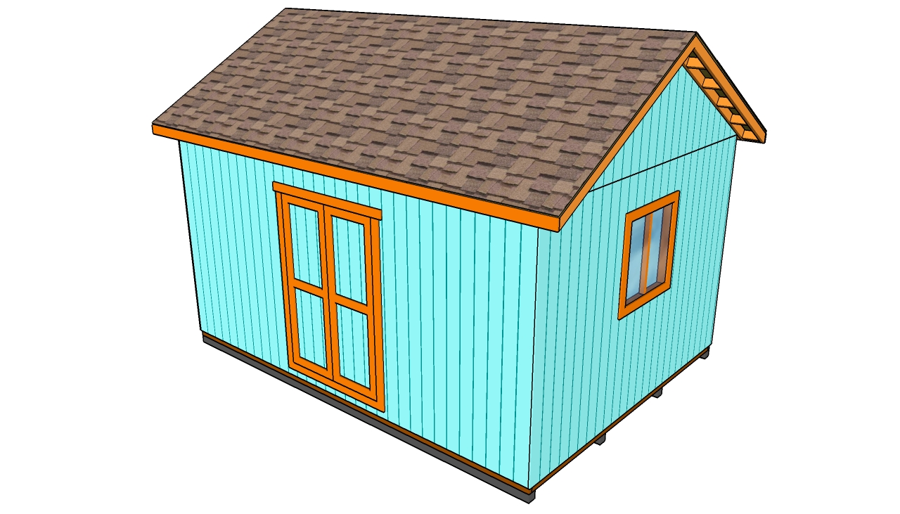 How to build a roof for a 12×16 shed