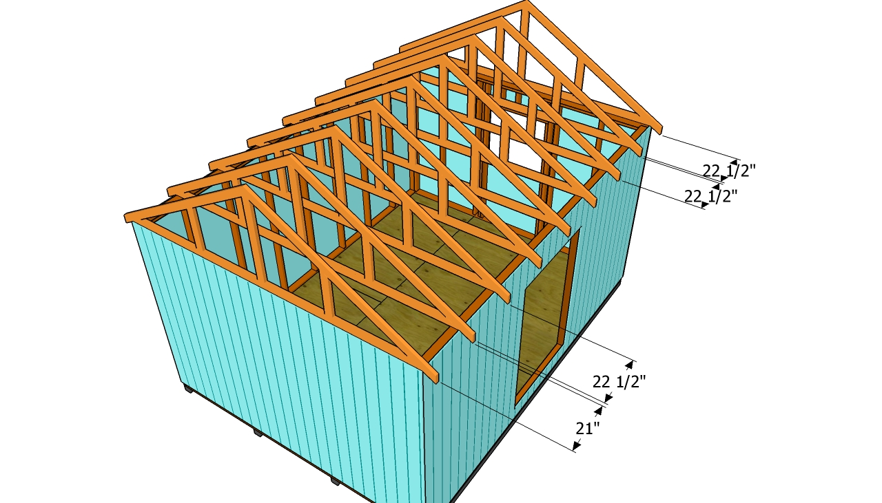 How To Build A Roof For A 12x16 Shed on shed construction project framing rafters
