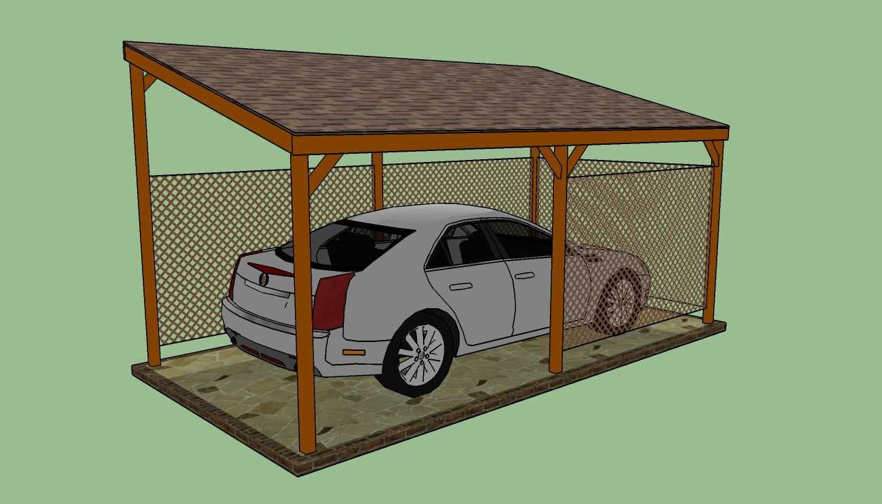 attached lean to carport plans