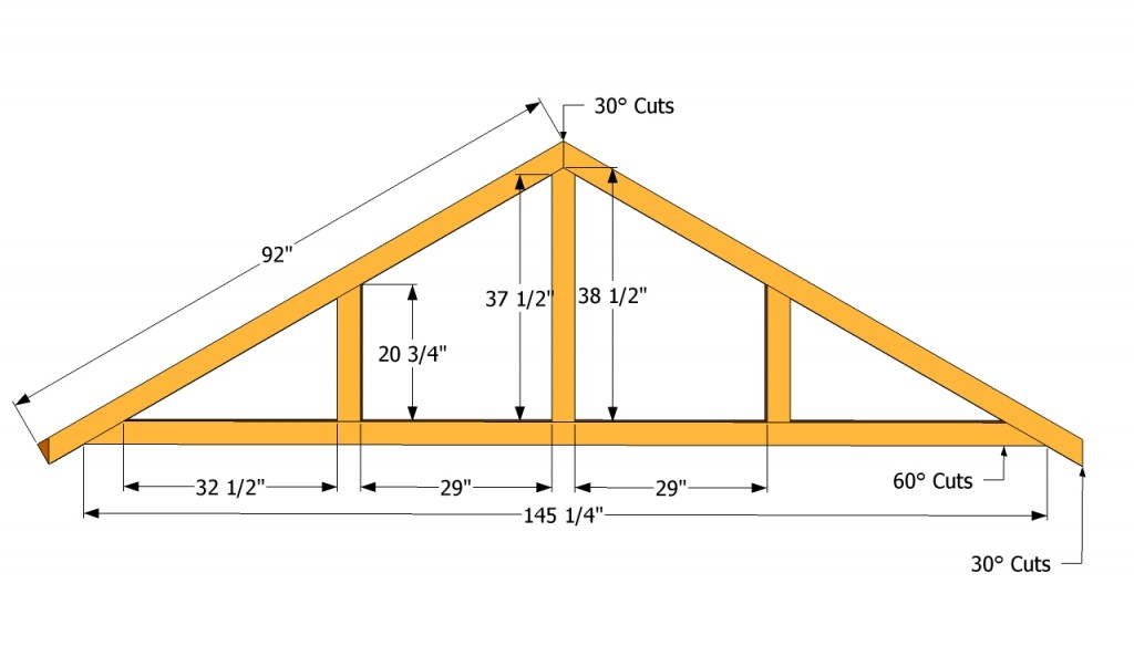 How to build a roof for a 12x16 shed howtospecialist for How to order roof trusses