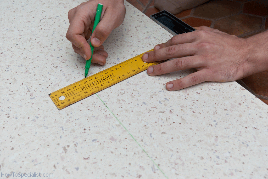 Tracing the cut lines
