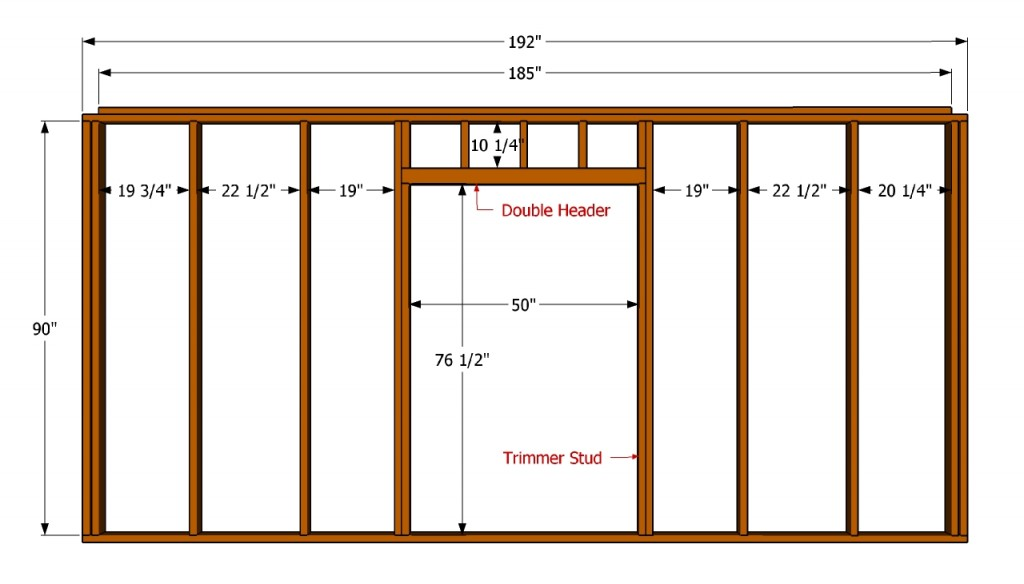Wall with door plans
