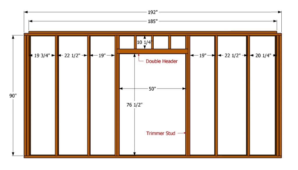 Wall with door plans