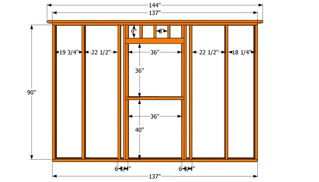 Wall with window plans