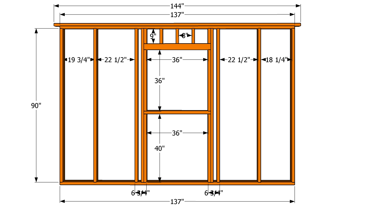 How to build a 12x16 shed howtospecialist how to build for House plans with window walls