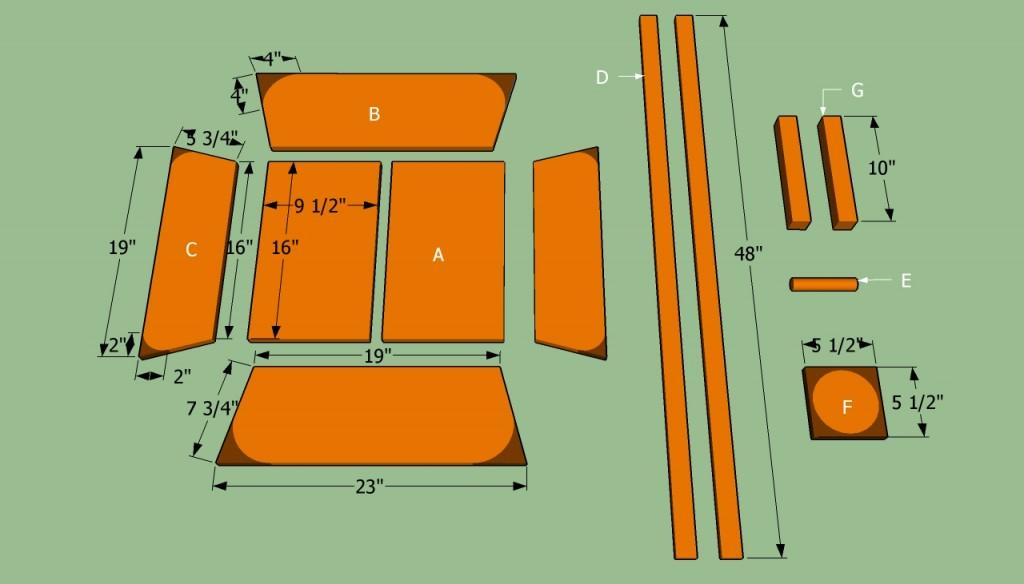 Wheelbarrow planter parts