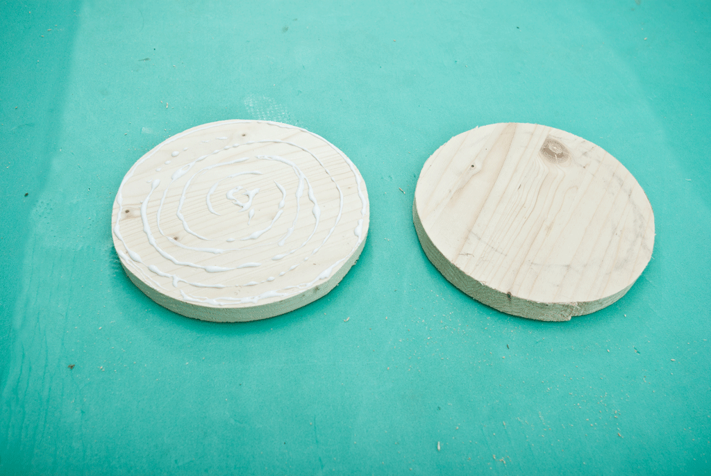 Wheelbarrow's wooden wheels
