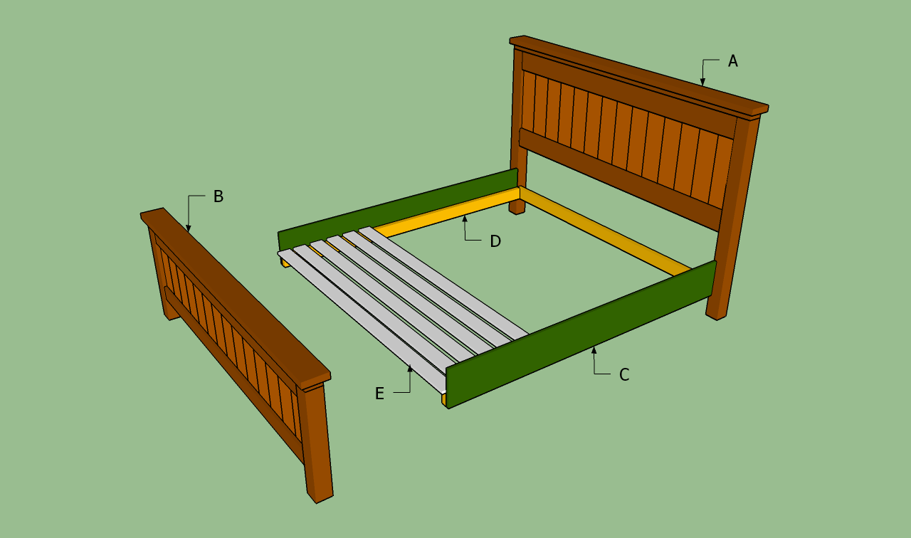 How to build a king size bed frame howtospecialist how A frame blueprints