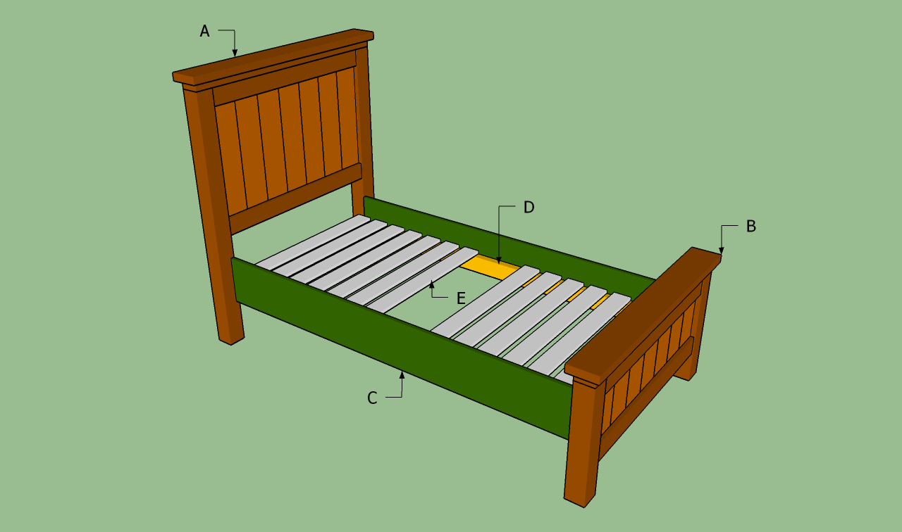 bed frame plans twin