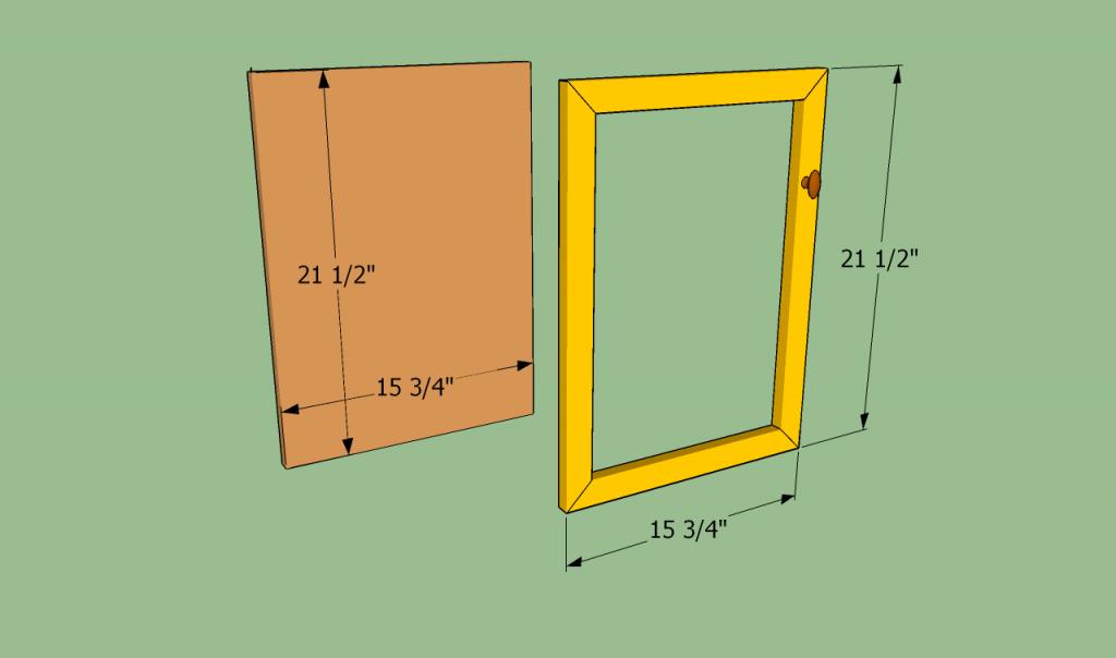 Building the cabinet door
