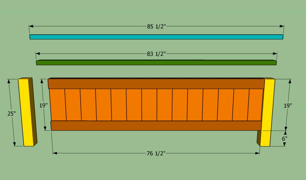 Amazoncom king size platform bed frame