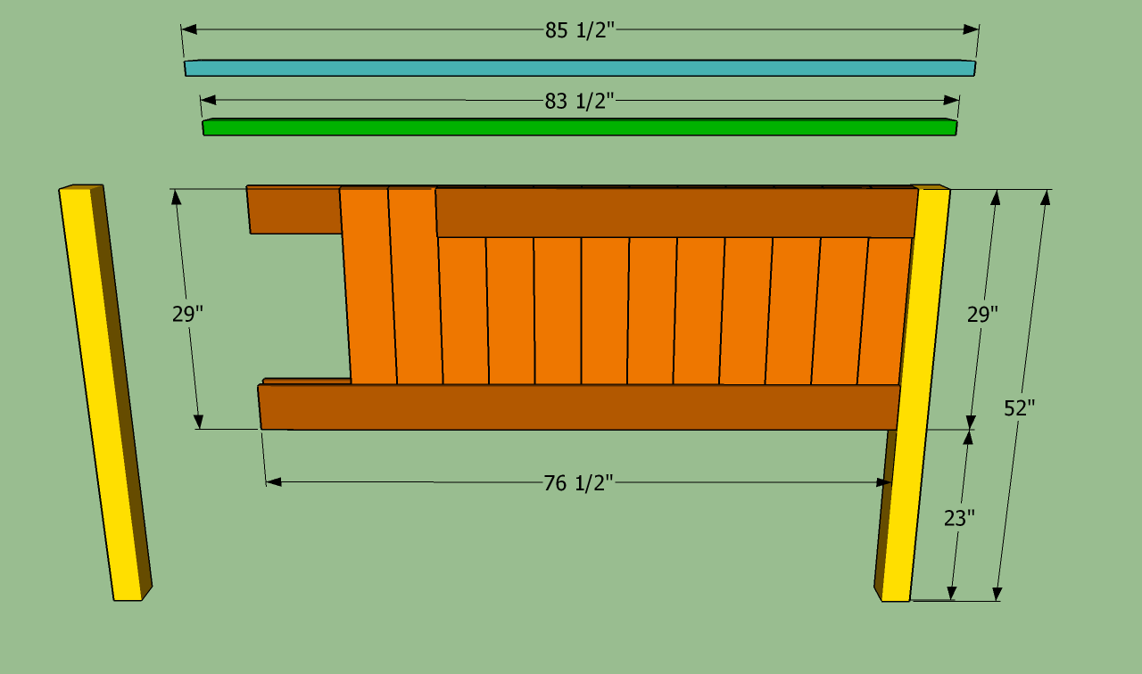 Wooden King Headboard Plans