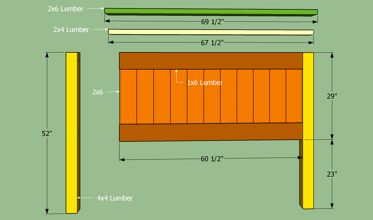 Diy Queen Headboard Plans