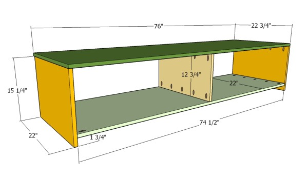 Building the side storage units
