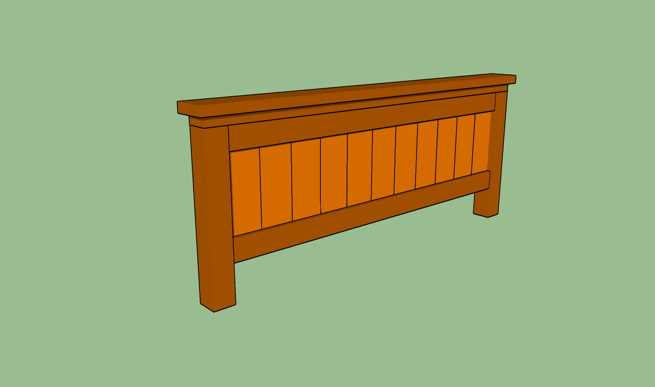 How to build a queen size bed frame howtospecialist for Queen footboard